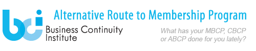 Business Continuity Institute Alternative Route to Membership