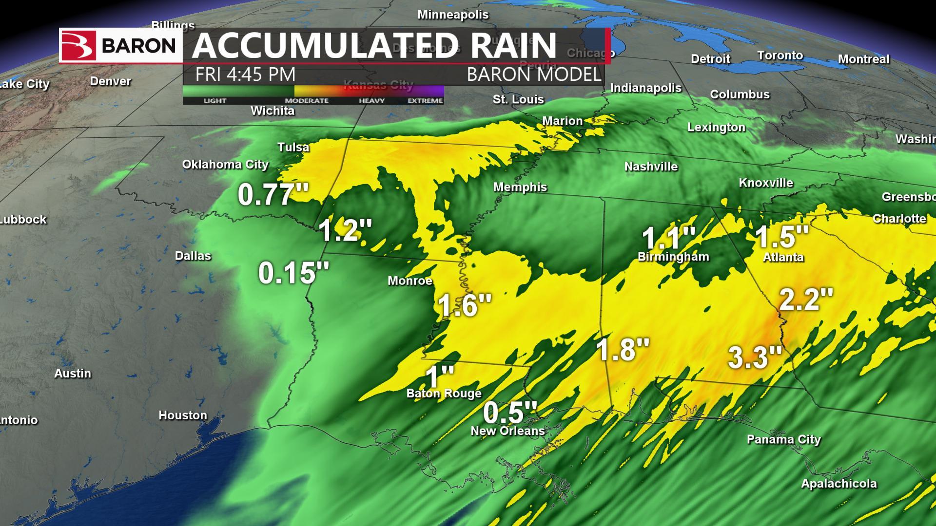 baron model rain accumulation